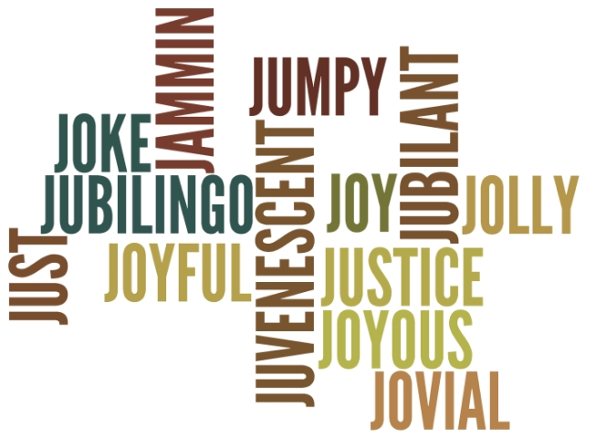 Positive Words starting with letter J