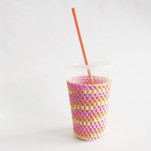 Iced Drink Cozies made from 100% American Grown Cotton. Eco-Friendly Drink Cozy