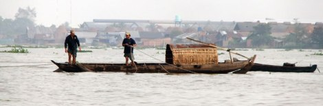 Boat on the Mekong River