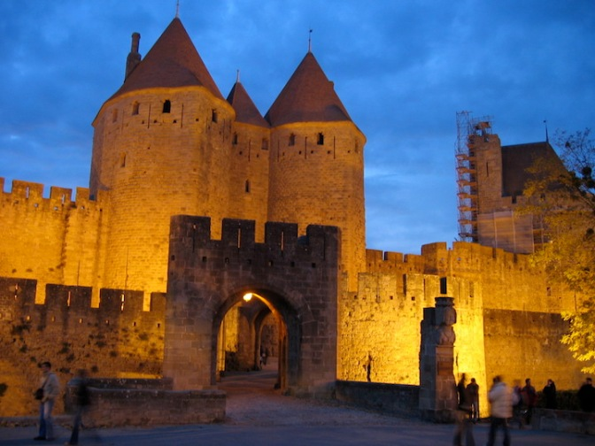 289.City of Carcassonne at night