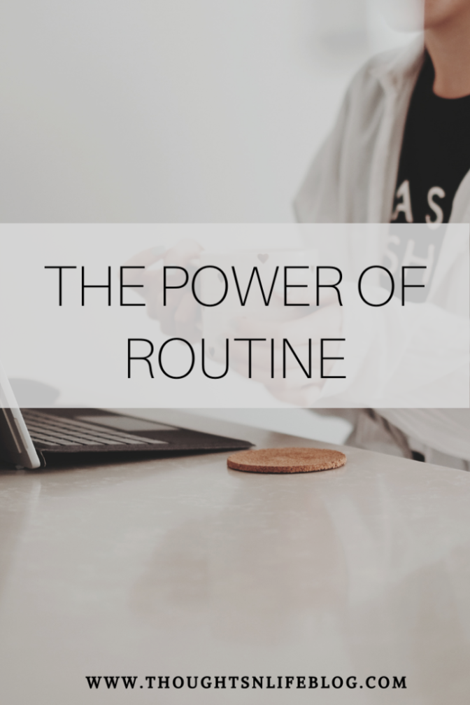 Image: The power of routines