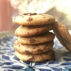 Choco-chip Cookies with Flax Seed, Eggless