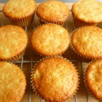 Apples, Cherries, Lime and Honey Cupcakes