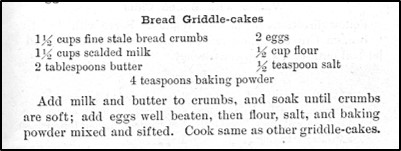Recipe for Bread Griddlecakes