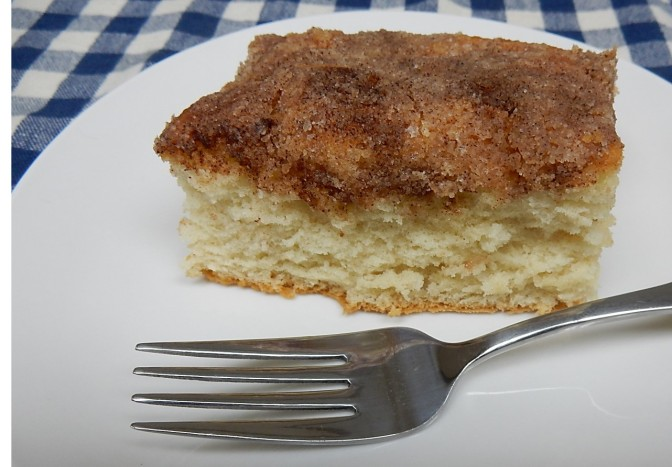 piece of coffee cake on plate