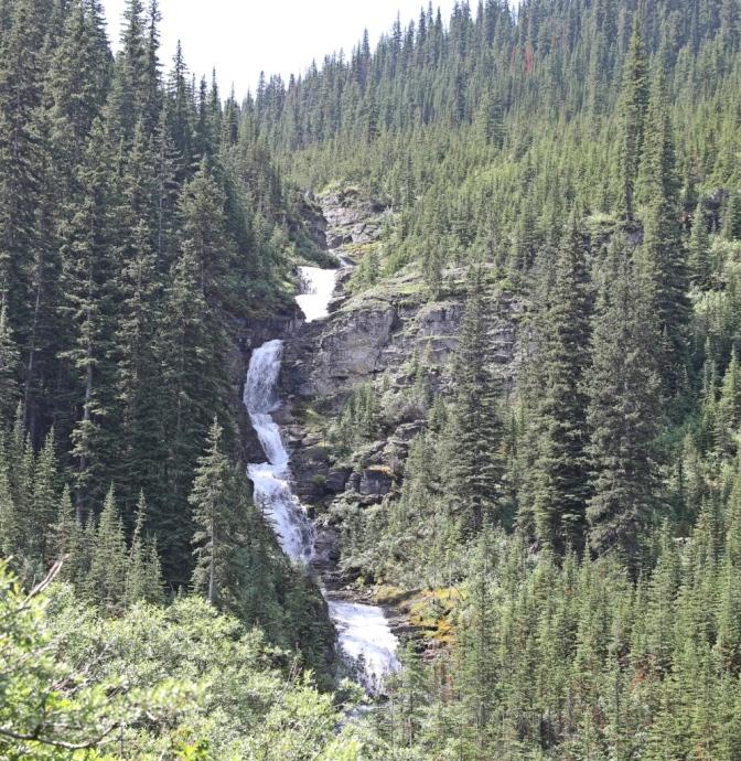 Waterfall below Bourgeau Lake, Banff National Park